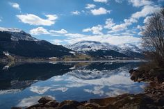 Beautiful lake reflections - Beautiful lake reflections in Jølstravatn in Jølster, Norway (yes we have a lot of strange letters in Norwegian) Norway, Reflection, Mountains, Nature, Travel, Letters, Beautiful, Naturaleza, Viajes