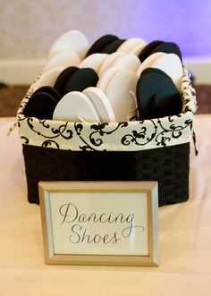 """Personalize Your Wedding: Guest Favors *Dancing Shoes* See More personalized ideas at """"Let's Party"""" TITC Blog"""