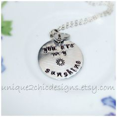 You Are My Sunshine Necklace Sun Necklace by uniQue2ChicDesigns