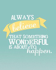 Always Believe Free Printable by Holly McCaig