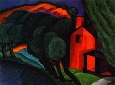 Glowing Night (Oscar Bluemner - No dates listed)