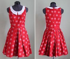 What Once Was Pt. 3: Simplicity 1873 in red nautical/wheel print