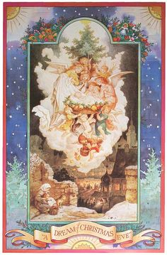 Heavenly angels advent calendar made in England