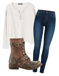 """""""Outfit for school"""" by movetotherythem on Polyvore featuring MANGO, Pieces and ZIGIgirl"""