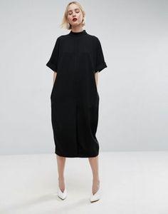 Платье миди овального силуэта ASOS WHITE