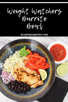 I love coming up with zero point meals for Weight Watchers. This zero point burrito bowl is one of my favorites! I never thought I would like cauliflower rice as much as I do in this recipe. Weight Watcher Dinners, Poulet Weight Watchers, Plats Weight Watchers, Weight Watchers Meal Plans, Weight Watchers Snacks, Weight Watchers Chicken, Weight Loss, Ww Recipes, Amigurumi