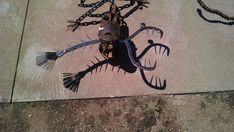 Ice Tongs, Square Nails, Yard Art, Moose Art, Fish, Animals, Animales, Animaux, Pisces