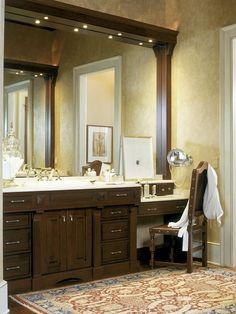 45 bathroom vanity with makeup mirrors
