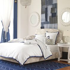 Custom Upholstered Fillmore Bed in Designer Fabrics