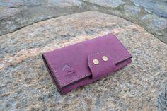 """Купить Портмоне ультрафиолетовое """"Travel"""" - однотонный, фиолетовый, портмоне, портмоне из кожи, кошелек из кожи"""