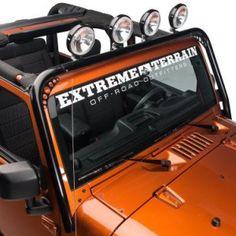 RedRock 4x4 Gloss Black 4 JK Jeep Light Bar Mount