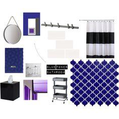 """Blue tones bathroom"" by sisustusheinia on Polyvore"