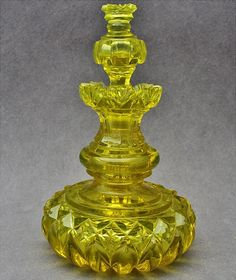 Incredble Victorian Baccarat French Canary Yellow Cut Glass Perfume Scent Bottle | eBay