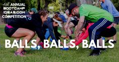 This workout is an entry to this year's Bootcamp Ideas Competition. It has been submitted by Kate Cairnduffof Fitness Manouvers. Balls, Balls, Balls Workout Length: 45 minutes Equipment Needed: Co…