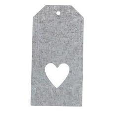 Petite Etiquette métal avec Coeur - .