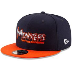 6caa590cf75 Men s Chicago Bears New Era Navy Orange Monsters of the Midway Two-Tone  9FIFTY