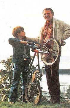 """Lighthearted Father-Son moment while filming The Goonies in Astoria, OR 1984. Dang, my old man looks good in this pic. Thanks to whoever it was that posted it. For those scratching your heads, yes that's John Astin, """"Gomez"""" from The Addams Family!!!! Now he teaches Drama at Johns Hopkins, but then, he was nice enough to take time away from coaching my little league team to also coach me for my audition scenes to play Mikey. Thanks Dad. Nurture all the live long day…"""