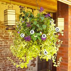This one shows how to plant those awesome hanging baskets and what plants to use.