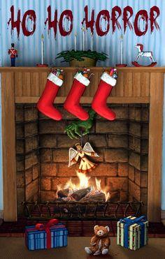 Ho Ho Horror! Dark Christmas, Halloween Christmas, Christmas Art, Christmas Humor, Xmas, Christmas Nails, Real Haunted Houses, Funny Horror, Very Scary