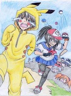 N- Yan-chan and Senpai with Pokemon crossover! Hahaha!