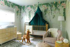 Feminine Modern Nursery with Tempaper Designs - Anne Sage Budget Nursery, Baby Girl Nursery Decor, Nursery Design, Baby Decor, Nursery Ideas, Baby Room, Chic Baby, Nursery Inspiration, Father Of The Bride