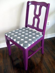 Redone wooden chair!