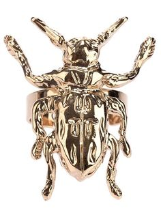 MCQ BY ALEXANDER MCQUEEN - beetle ring 4