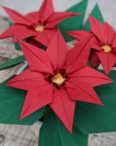 Red poinsettia plant, origami paper flowers, christmas plant in pot, mother in law gift, hostess gif Flower Oragami, Origami Flowers, Paper Flowers, Poinsettia Plant, Christmas Poinsettia, Origami Leaves, Metallic Gold Paint, Christmas Plants, Ruby Wedding Anniversary Gifts