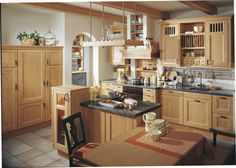 The charming country kitchen design Country Kitchen Designs, Design Kitchen, Contemporary Kitchen Design, Country Style Homes, Cuisines Design, Kitchen Cupboards, Küchen Design, Kitchen Furniture, Home Kitchens