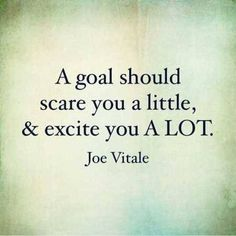Life Quote A goal should scare you a little & excite you a lot