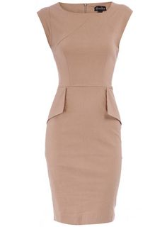 been on the look-out for classically-shaped shift dresses for [future] employment. Dorothy Perkins, grey (more like taupe) structured dress, £45.