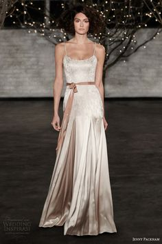 jenny packham wedding dresses spring 2014 bridal taylor color gown spaghetti straps