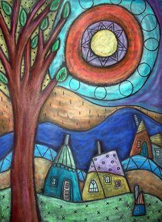 karla gerard art: Latest Oil Pastel Art