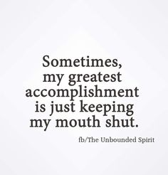 Sometimes the Very Best Accomplishment...