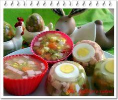 Jedlíkovo vaření: Velikonoční aspikové bábovičky Easter Recipes, Sushi, Food And Drink, Menu, Pudding, Eggs, Yummy Food, Cooking, Breakfast