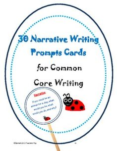 narrative writing prompts..makes cute writing prompt sticks
