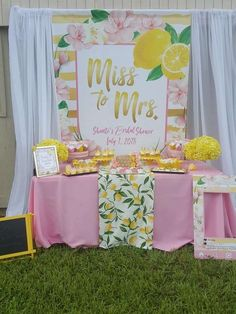 Lemonade Bridal Brunch Bridal/Wedding Shower Party Ideas | Photo 2 of 25 | Catch My Party