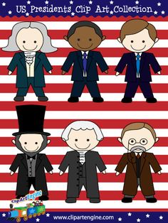 Presidents of the United States of America Clip Art