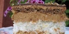 """Kad probate ovu tortu,ukus vas vodi na """"sedmo nebo"""". Torta bez trunke brašna.   Sastojci bijela kora  - 5 bjelanaca - 180g šećera - 200g kokosa  cr"""
