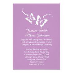 Elegant Lavender Beauty Butterfly Wedding Invite