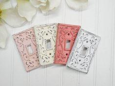 Light Switch Cover/Shabby Chic Light Switch Cover/Nursery Decor/Decorative Cover/Wall Decor/Farmhouse/Bedroom/Bathroom/   Single cast iron light