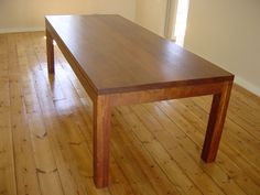 beautifully crafted wooden dining table