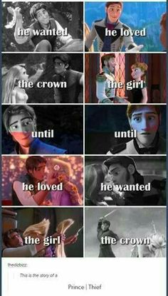 Hans never really loved Anna... This is why Eugene is the best, and what makes him a hero and Hans a villain. One had all the goodness while the other only had the appearance of it.❤❤