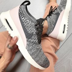 """4,248 Likes, 111 Comments - STYLERUNNER (@stylerunner) on Instagram: """"Flyknits + Blush trackpants =  Keep cosy on your off-duty day in the Nike Air Max Thea Ultra…"""""""