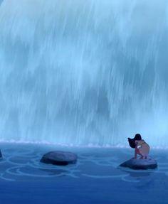 Pocahontas by the waterfall Disney Pixar, Walt Disney Co, Disney Pocahontas, Disney Love, Disney Magic, Disney Princesses, Animation Film, Disney Animation, Dreamworks