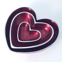 HEART DISH in Red and Silver | A unique home design accessory! Available at cuckooland.com