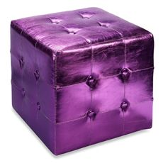 #Motel6UBL Idea Nuova Metallic Ottoman - Purple I want my home to have lots of purple furnishings in several of the rooms, too.