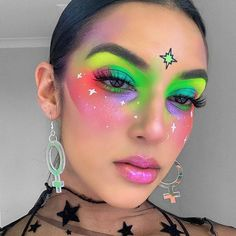 makeup for redness Makeup Inspo, Makeup Art, Makeup Inspiration, Fairy Makeup, Mermaid Makeup, Make Carnaval, Extreme Makeup, Rave Makeup, Glam Makeup Look