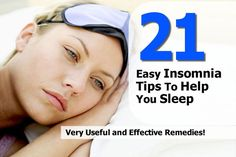 21 Easy Insomnia Tips To Help You Sleep | http://sibeda.com/21-easy-insomnia-tips-to-help-you-sleep/