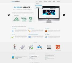 Design Parrots - Free PSD Template